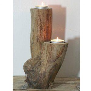 جا شمعی تنه درختی