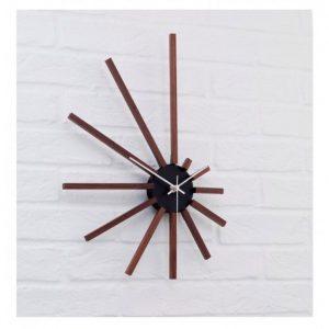 ساعت دست ساز طرح چوبی خطی