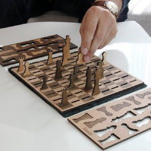 بازی شطرنج طرح چوبی مسافرتی