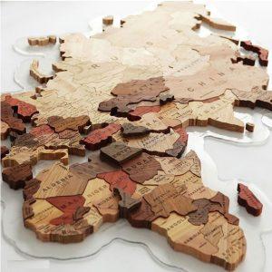 پازل چوبی نقشه