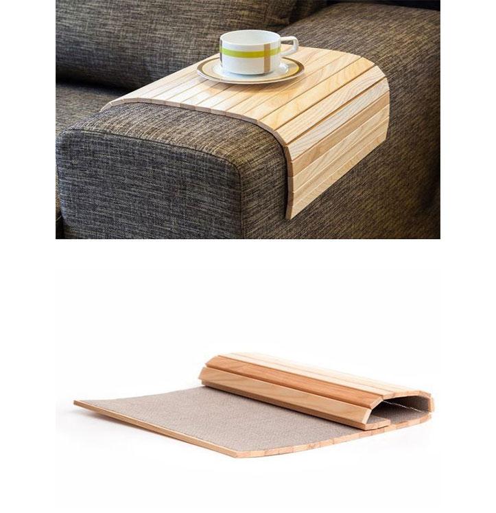 زیر دستی مبلی چوبی تاشو