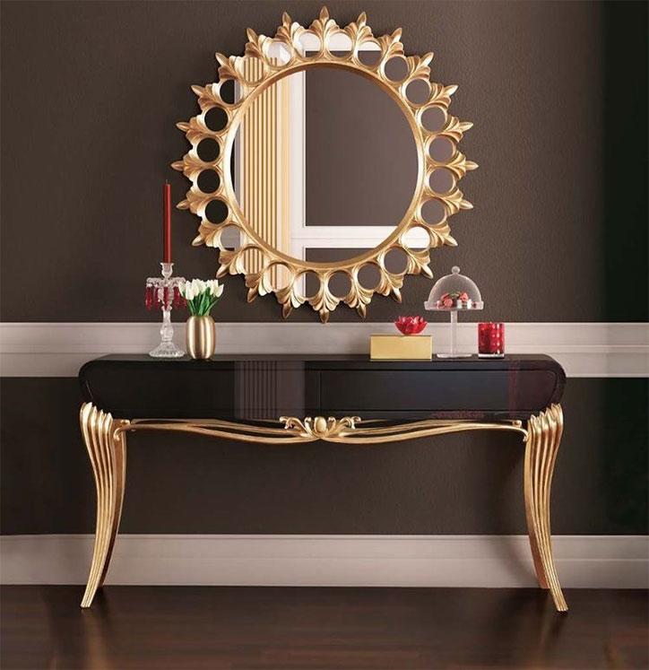 آینه و کنسول با یک کشو کلاسیک