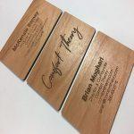 کارت ویزیت چوبی